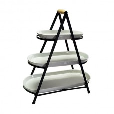3 Tier Rounded Serving Tower