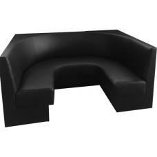 Black Curved Banquette