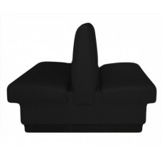 Leather Double Bench Black