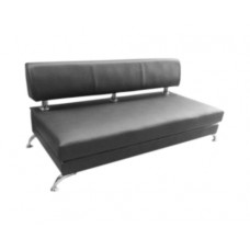 Black Leather Modern Couch