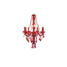 Medium Red Chandelier