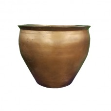 Copper Colored Flower Pot