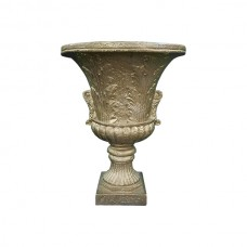 Gold Flower Pot with Base