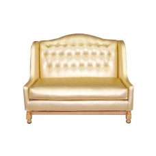 Gold Tufted Love Seat