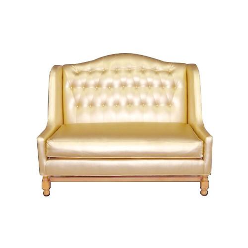 Gold Tufted Love Seat Event Furniture Rentals