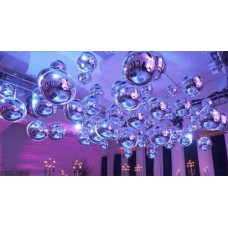 Hanging Silver Spheres