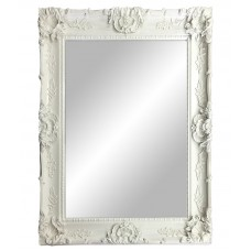 Large White Framed Mirror