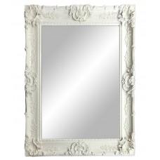 Large White Framed Mirror