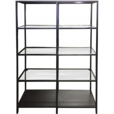 Medium Black Glass Back Bar