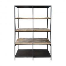 Rustic Wood Shelf Back Bar