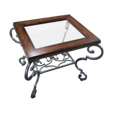 Metal, Wood and Glass Table