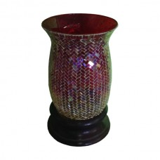 Mosaic Tiled Red and Yellow Candle Holder