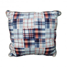 Plaid and Grey Pillow