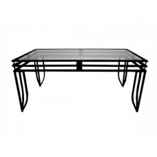 Black Metal & Glass Table