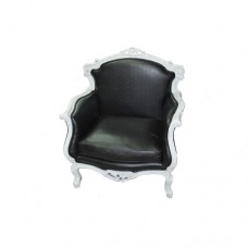 Black & White Ornate Chair