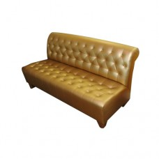 Gold Tufted Banquette