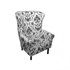 Black & White Wing Back Chair
