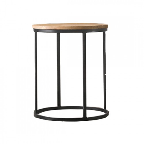Round Wood Side Table Event Decor Rentals
