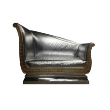 Cleopatra Silver Chaise