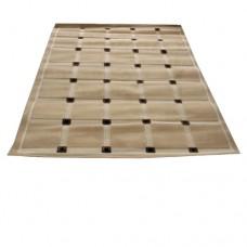 Tan Carpet with Brown Squares Runner