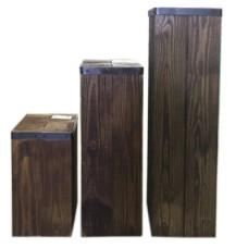 Rustic Pedestal Set
