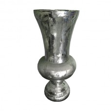 Silver Cracked Vase