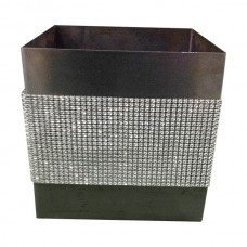 Silver Pewter Vases with Bling
