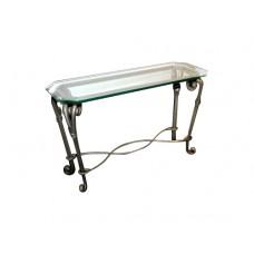 Long Metal Glass Table