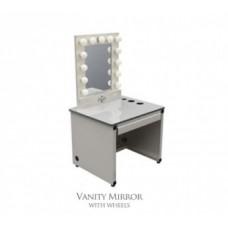 Vanity Mirror with Wheels