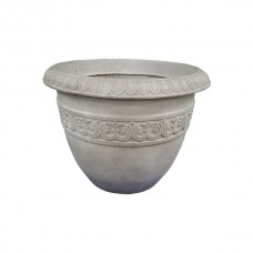 White Decorated Flower Pot