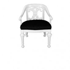 White Fleur De Lis Chair