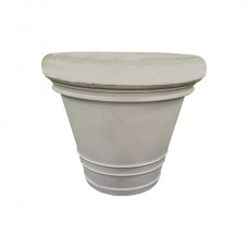 White Rigged Flower Pot