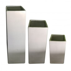 White Square Vases