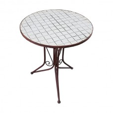 White Tile Table