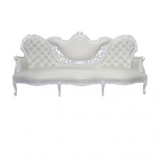 White Tufted Winged Couch