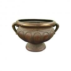 Wide Faux Copper Pot
