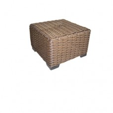 Java Wicker Ottoman