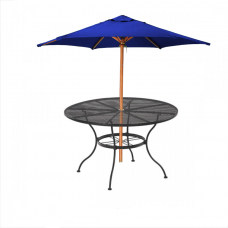 Iron Table With Umbrella